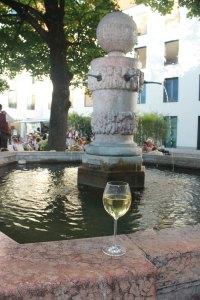 Gekühlter Silvaner Silvaner zum Fränkischen Weinfest Alter Hof München